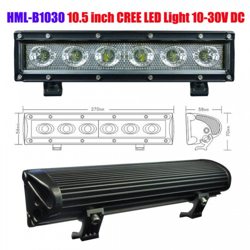 HML-B1030 30W 8Degree 10.5 inch CREE LED Light Bar  DC12V 24V