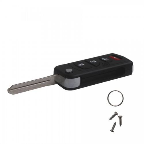 Buy Flip Remote Key Shell 4 Button for Nissan 5pcs/lot