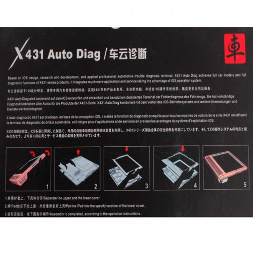 Original Launch X431 iDiag Auto Diag Scanner for iPad and iPhone mit Deutsch