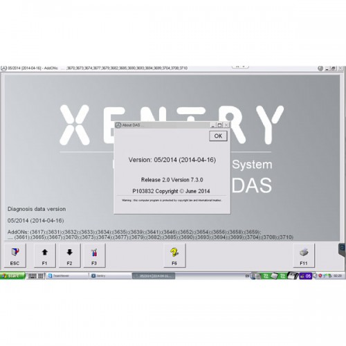 2014.05V MB STAR C3/C4 Software HDD T30 Format 120G