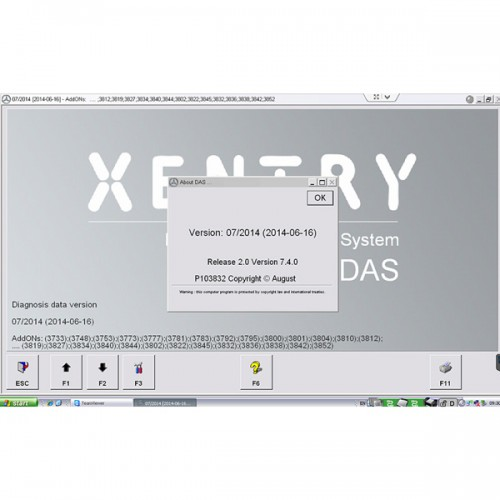 2014.7 MB STAR C3 / C4 Software HDD Abnehmbare Format 320G