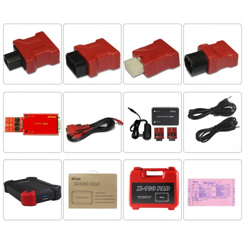 Xtool X-100 PAD Tablet Key Programmer mit EEPROM Adapter Support-Sonder Funktionen 2 Years Free Update