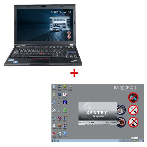 V2020.12 MB SD C4 SSD 256GB Software Plus Second Hand Laptop Lenovo X220 I5 Support to 2018 2019 Year Ready to work with C4 C5 for BENZ