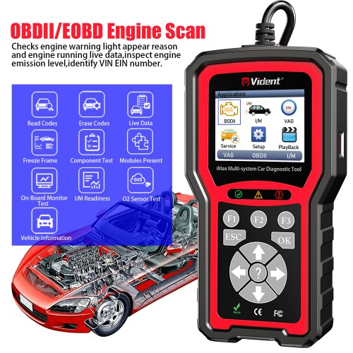 VIDENT iMax4301 VAWS OBD2 Diagnostic Service Tool 9 Special Functions Full ECU Diagnosis mit Deutsch