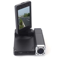 HD 1080p Dual Lens IR Car Dashboard Dash Camera Cam DVR,Rotable Monitor mit Deutsch