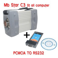 V2016.3 Mb Star C3 Pro works with Benz Truck and Cars Plus PCMCIA TO RS232