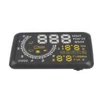 Special Price Car HUD Showing OBD Insert Head Up Display KM/h & MPH Speeding Warning OBD2 System W02