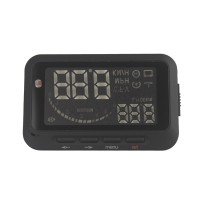 Car Head Up Display Vehicle-Mounted HUD Overspeed Warning OBD 2 System F02