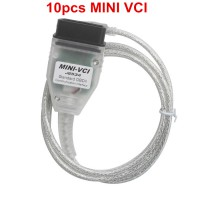 10pcs Single Cable for MINI VCI FOR TOYOTA TIS