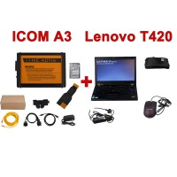 ICOM A3 Professional Diagnostic Tool Hardware V1.37 mit 2017.7 Version Software for BMW Plus Second Hand Lenovo T420
