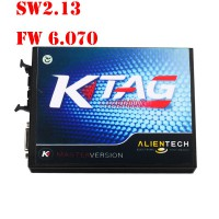 Promotion V2.13 KTAG K-TAG Firmware V6.070 ECU Programming Tool Master Version with Unlimited Token ECM TITANIUM V1.61 18295 Drivers