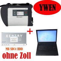 V2019.5 MB SD C4 Star Diagnosis Plus Second Hand Lenovo T410 4GB Second Hand Laptop Einsatzbereit Ready to Use