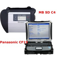 V2018.5 MB SD Connect C4 C5 mit DTS Monaco & Vediamo Plus 4GB Panasonic CF19 Laptop Software Pre-installed Ready to Use