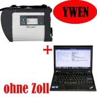 V2019.5 WiFi MB SD Connect Compact 4 Star Diagnosis Plus Lenovo X220 Laptop Win7 32bit