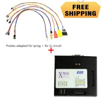 V6.12 X-PROG Box ECU Programmer XPROG-M V5.60 mit USB Dongle Plus Probes Adapted for IPROG+ for In-circuit