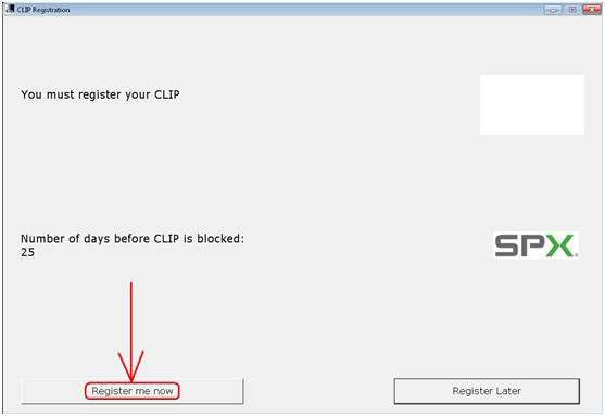 clip registration step 1