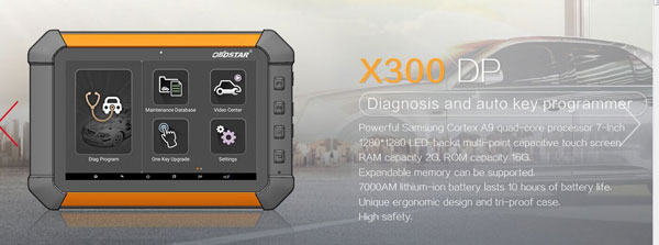 OBDSTAR X300 DP Tablet Key Programmer and Diagnostic Tool 2 in 1