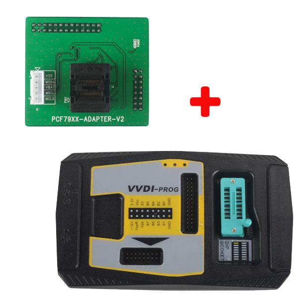 VVDI PROG Programmer V4 8 5 Plus PCF79XX Adapter for VVDI2