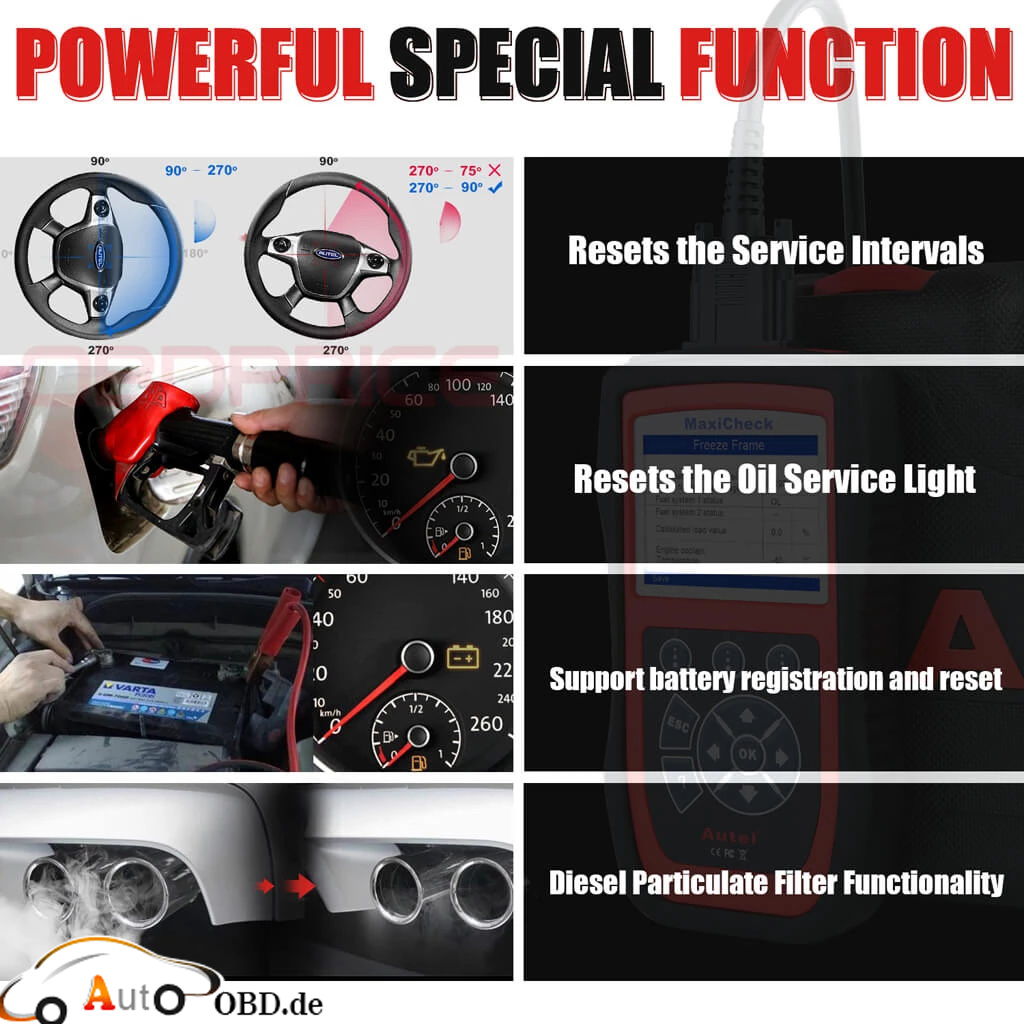 MaxiCheck Pro Powerful Special Functions Display