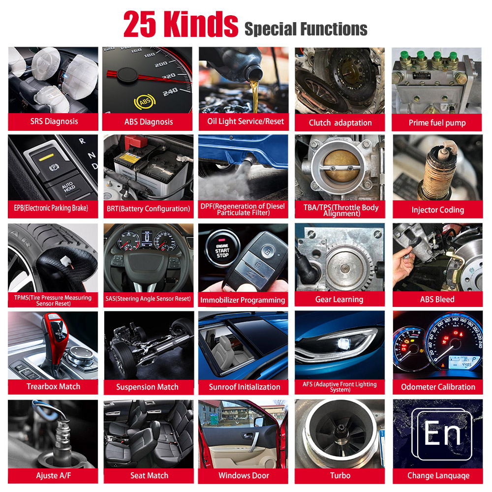 iAuto 702Pro 24 kinds of special functions