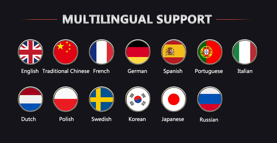Multi-language is supported