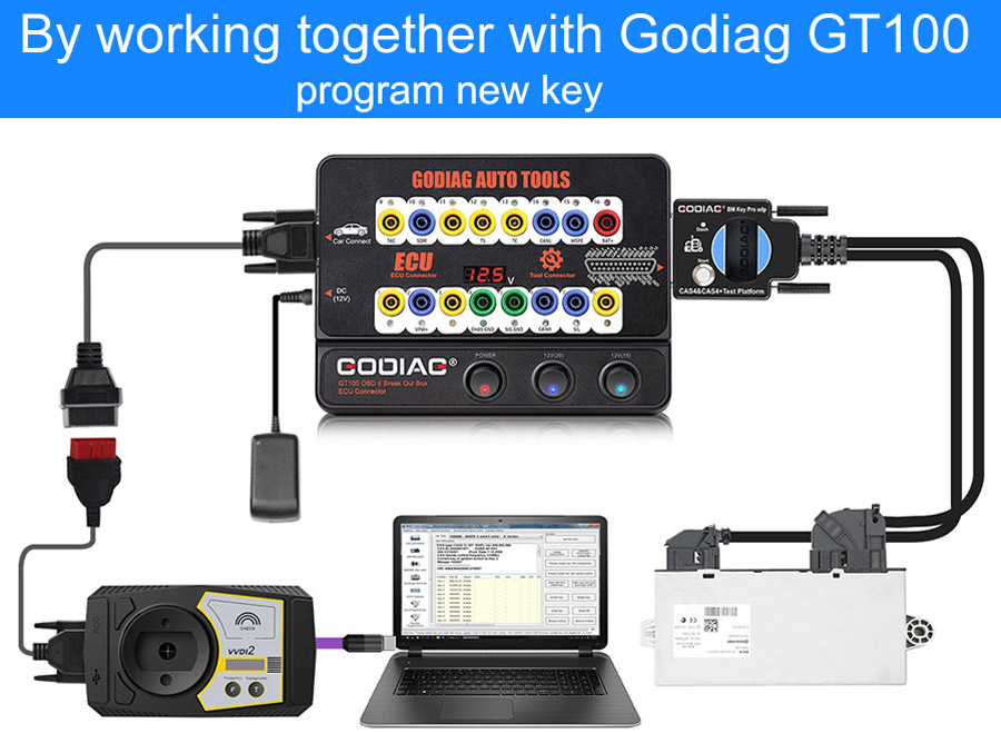 By working together with Godiag GT100 program new key