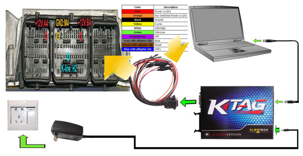 how to connect k tag ecu programming tool chip-2