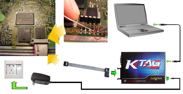 how to connect k tag ecu programming tool chip-1